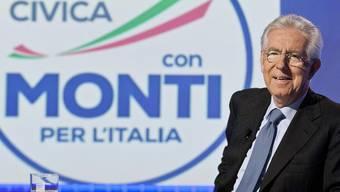 Mario Monti präsentiert seinen Slogan