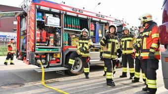 Feuerwehrübung Betriebsfeuerwehr MVN Migros Neuendorf