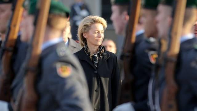 Ursula von der Leyen beim Amtsantritt am Dienstag. (Archiv)