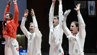 Die Schweizer Degen-Männer steuern auf WM-Medaillenkurs