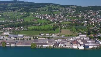 Das ehemalige Areal der Chemischen Fabrik in Uetikon am See im heutigen Zustand.