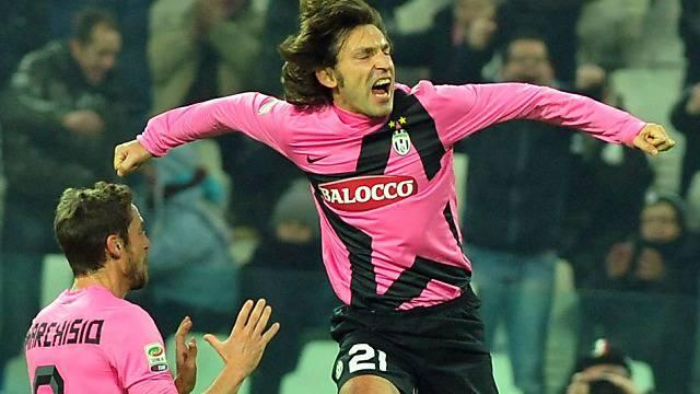 Andrea Pirlo schoss die Juve in der 22. Minute in Front