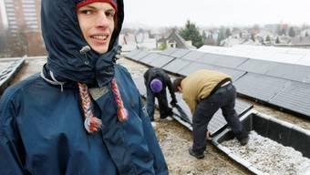 Motiviert: Der 19-jährige Gymnasiast Jonas Rosenmund will sich nach der Matura im nächsten Jahr weiterhin dem Thema Solarenergie widmen. (Andreas Frossard)