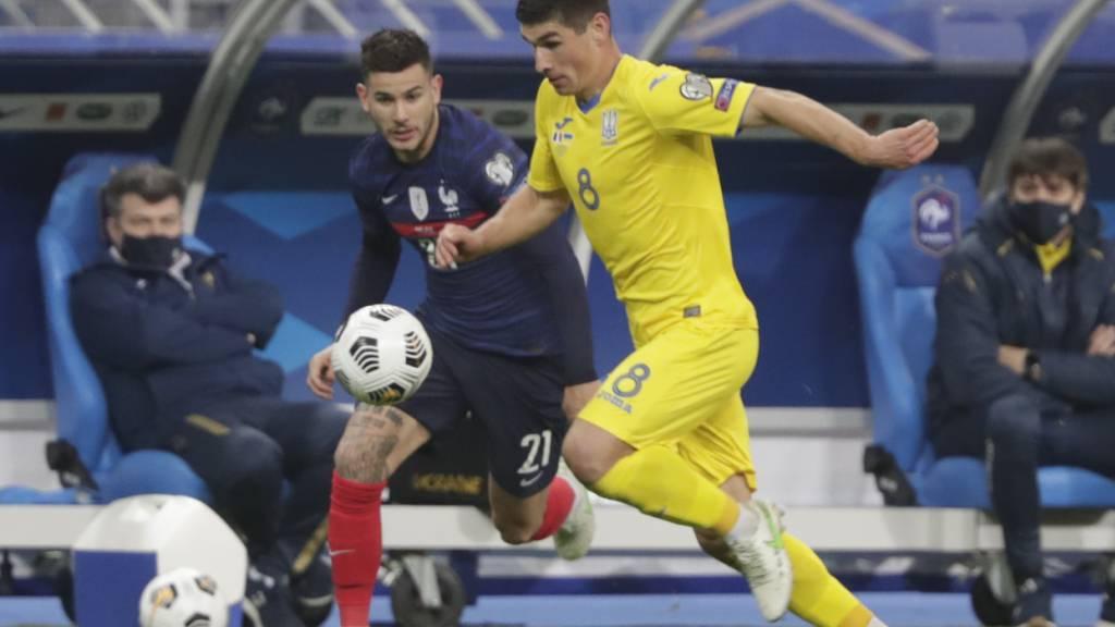 Der Ukrainer Ruslan Malinowsky und seine Teamkollegen machten den Franzosen um Lucas Hernandez diesmal das Leben schwer