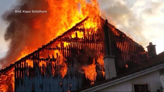 Eigentümer war in den Ferien, als sein Haus abbrannte