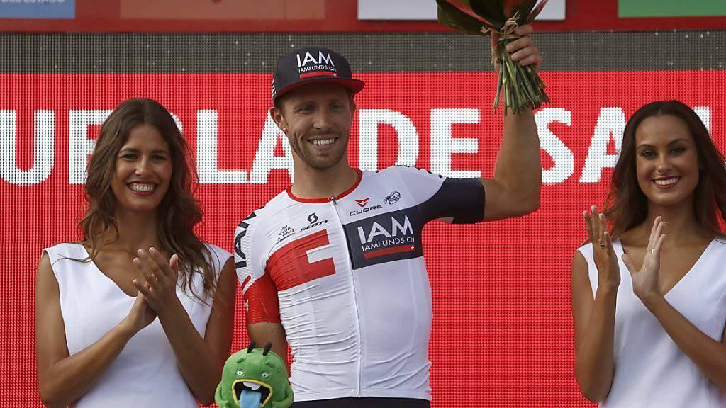 Der Belgier Jonas van Genechten, der Sieger der 7. Vuelta-Etappe, klassierte sich auch beim Eintagesrennen Paris - Tours in den Top 3
