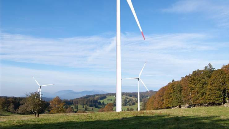 Das Windpark-Projekt auf dem Montoz-Pré Richard ist vom Tisch. Fotomontage: zvg