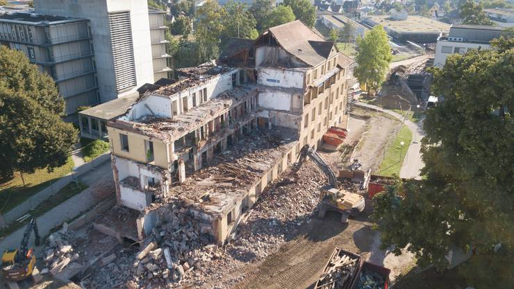 Das ehemalige Haus 6 des Kantonsspital Aarau