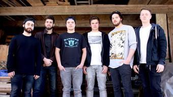 «CBTO» (v.l): Pierre Milazzo (Gitarre), Cyril Dörfler (Gitarre), David Schneider (Gesang), Sandro Ingold (Gesang), Samuel Bloch (Bass), Samuel Graf (Schlagzeug).