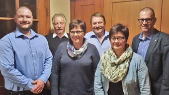 Der alte und der neue Vorstand (v.l): James Fuchs (neu, Matzendorf), Ernst Reber (Welschenrohr), Rita Walser (Mümliswil), Hansjörg Stoll (Mümliswil), Christine Rütti (neu, Balsthal) und Rolf Joachim (neu, Härkingen).