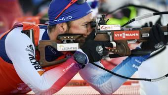 Liegend perfekt, stehend aber mit drei Fehlern: Benjamin Weger kam an der Biathlon-WM in Östersund in der Verfolgung auf den 8. Platz