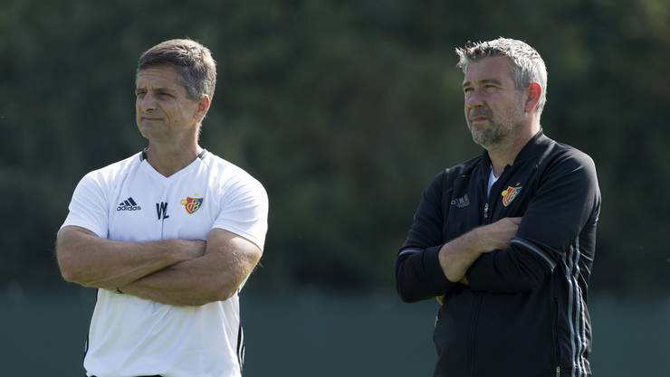 Werner Leuthard (l.) mit FCB-Trainer Urs Fischer