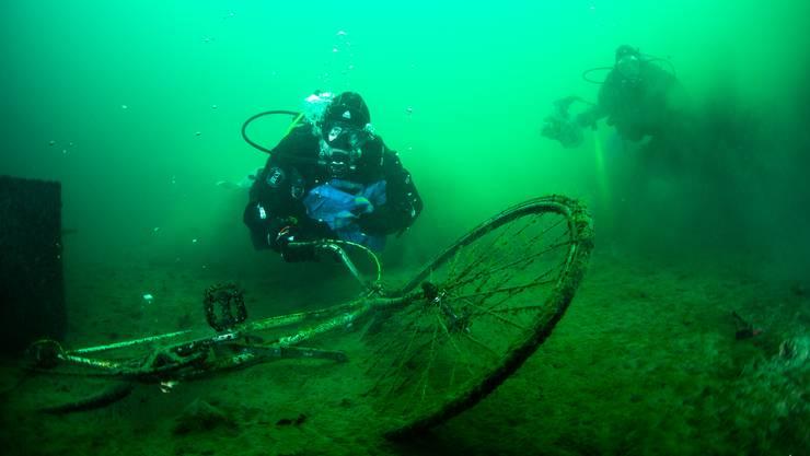 Bei der Seeputzete kamen auch versunkene Fahrräder zutage.