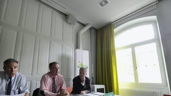 Die SVP-Vertreter Adrian Amstutz, Guy Parmelin und Hans Killer plädieren für mindestens zwei neue AKWs.
