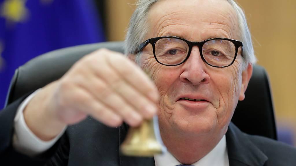 «Wichtig ist, dass die Gespräche weitergehen», sagt der frühere EU-Kommissionspräsident Jean-Claude Juncker vor dem Treffen von Bundespräsident Guy Parmelin und EU-Kommissionspräsidentin Ursula von der Leyen. (Archivbild)