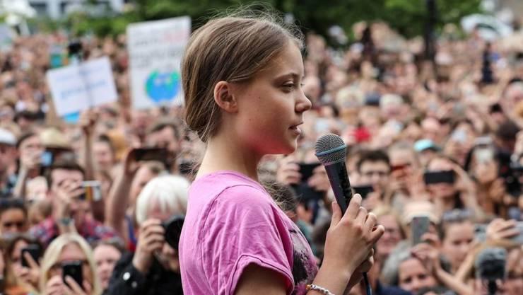 Greta Thunberg ruft in Berlin zu weiteren Klimaaktivitäten auf.