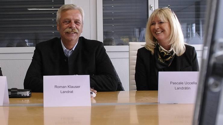Neu parteilos, aber für die SVP: Roman Klauser und Pascale Uccella.