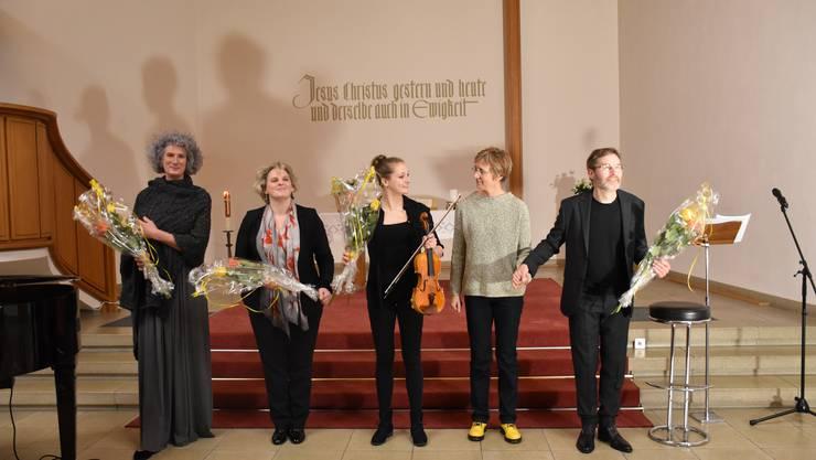 von links nach rechts: Silke Marchfeld, Gloria de Piante Vicin, Lea Ruscher, Uta Ruscher, Rainer Frank
