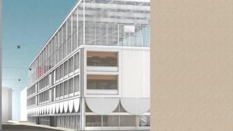 Aus einem 2016 durchgeführten Architekturwettbewerb ging das Team von Studio Burkhardt, Zürich und Pirmin Jung Holzbauingenieure AG, Rain mit ihrem Projekt als Sieger hervor.