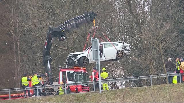 9 Verletzte bei Unfall auf A1