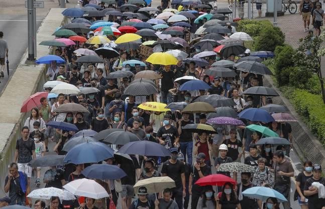 Proteste in Hongkong finden auch an diesem Wochenende statt.