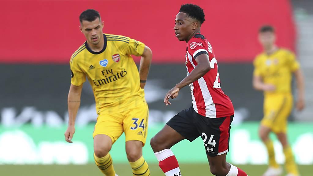 Granit Xhaka (links) stand beim 2:0-Sieg Arsenals in Southampton wieder in der Startformation