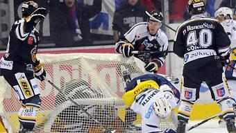 Einzig Ambris Alain Demizh landete im Goal von Benjamin Conz.