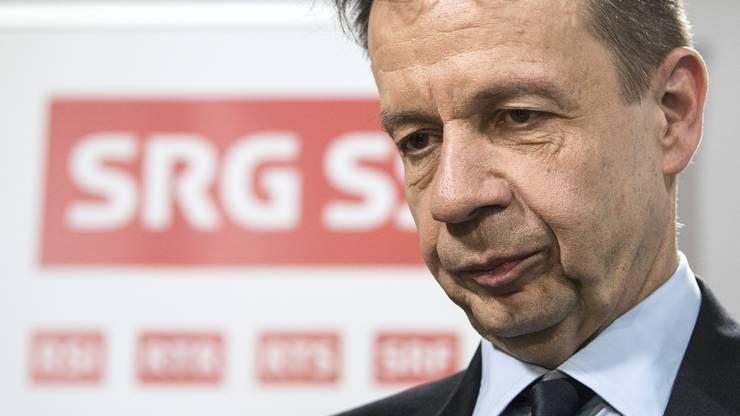 Gilles Marchand, Generaldirektor des SRG SSR spricht von Sparauftrag.