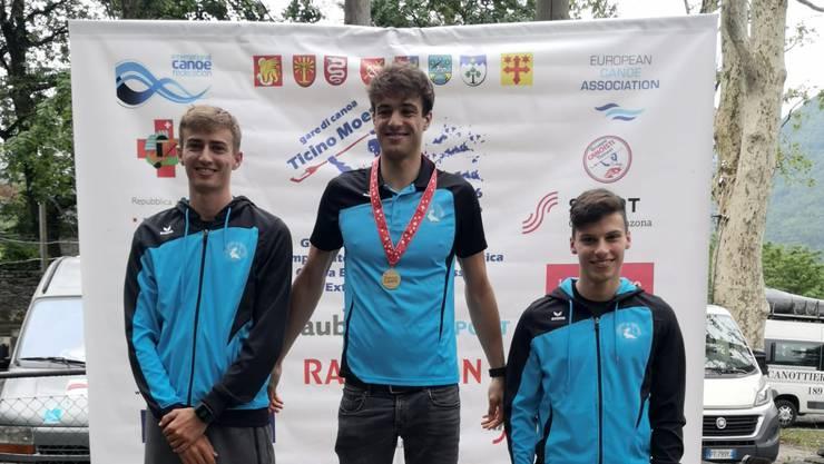 Schweizermeister-Podium mit Nico Meier, Leano Meier und Robin Häfeli.