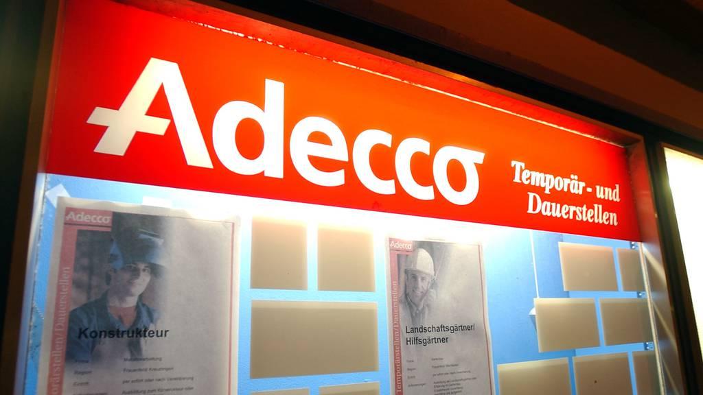 Trotz schwierigen Zeiten unter dem Strich gute Zahlen: Der weltweit tätige Stellenvermittler Adecco.