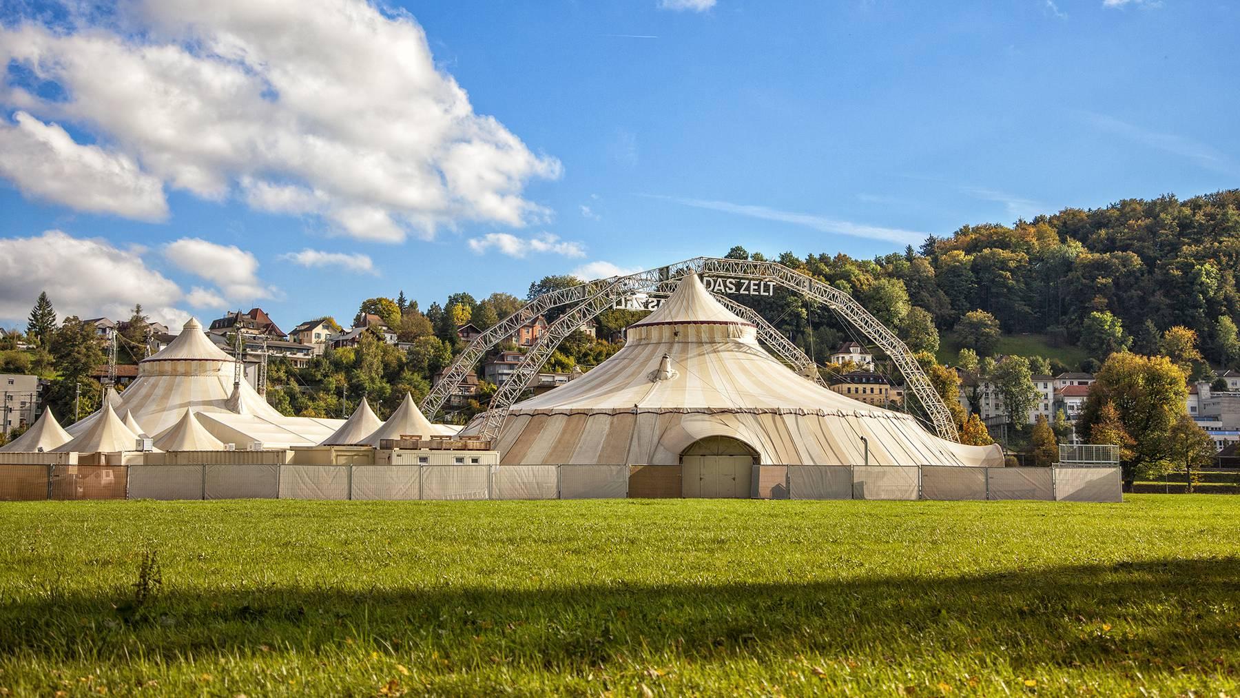 Das Zelt vom 09.10. bis 22.10.2021 in Aarau