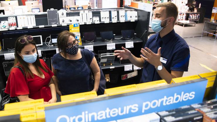 Maskenpflicht in Geschäften: In der Waadt, wie hier in Crissier, seit dem 8. Juli Pflicht