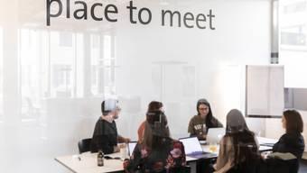 Meetingraum vom Co-working space bei Glasworking Consulting an der Dynamostrasse in Baden. Die Grünen wollen solche Lösungen fördern.