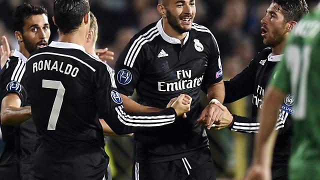 Ronaldo und Benzema (mitte) besiegten Bilbao fast im Alleingang