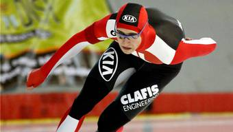 Auf dem Eis von Calgary lief Christian Oberbichler vor neun Monaten Schweizer Rekord.