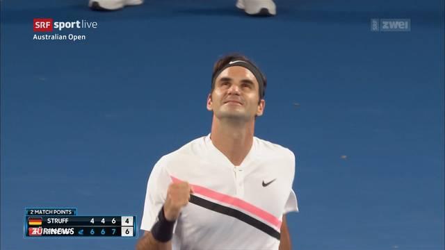 Federer auf Siegeskurs, Wawrinka auf dem Heimweg