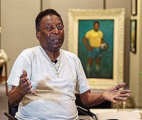 Pelé während eines Interviews vor einem knappen Jahr.