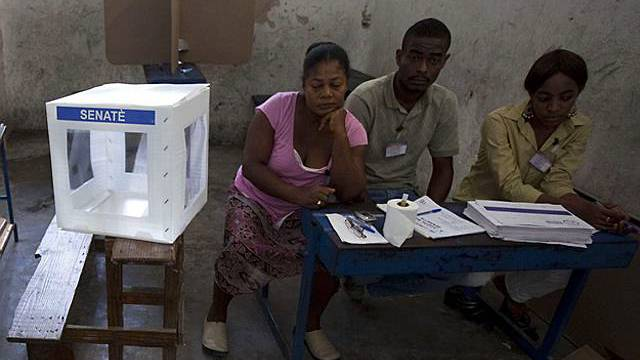 Leeres Wahllokal in Port-au-Prince