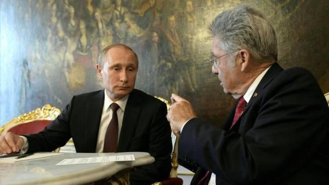 Der russische Präsident Putin und Österreichs Präsident Fischer