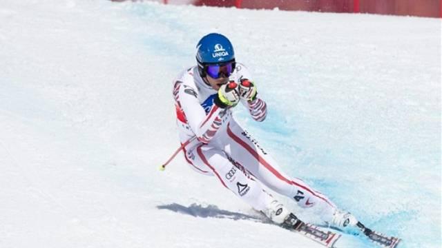 Benjamin Raich fühlt sich in der Schweiz sehr wohl – gestern holte er in Crans-Montana seinen 10. Sieg auf Schweizer Boden.Foto: Samuel Trumpey - keystone