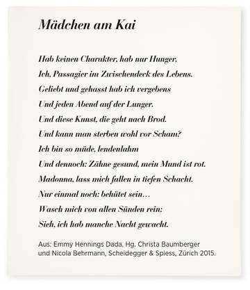 «Mädchen am Kai» von Emmy Hennings