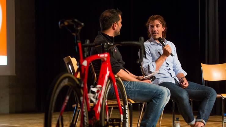 Im Gespräch plauderte Fabian Cancellara aus dem Nähkästchen – etwa, dass er E-Bikes mag. Und blickte weit zurück und auch voraus.  Fabio Baranzini