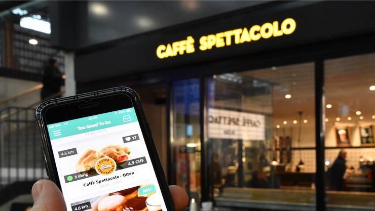 Olten: Caffè Spettacolo und Dunkin' Donuts sind bei der Aktion «Too Good To Go» dabei. Bruno Kissling