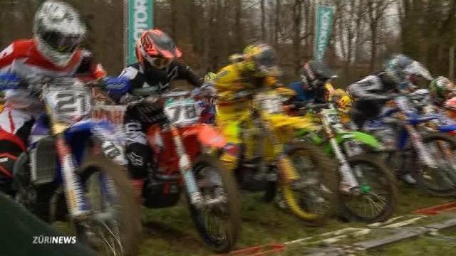 Schweizer Motocross-Star beim Motocross-Seitenwagen-Grand Prix in Frauenfeld