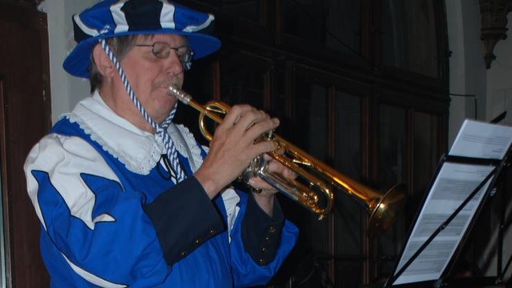 Der Aarauer Musiklehrer Peter Roschi als «Trompeter von Säckingen».