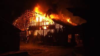 Grossbrände (wie hier auf dem hof Hinterlinden in Therwil) liessen 2012 die Schadenssumme der Baselbieter Gebäudeversicherung auf mehr als das doppelte ansteigen.