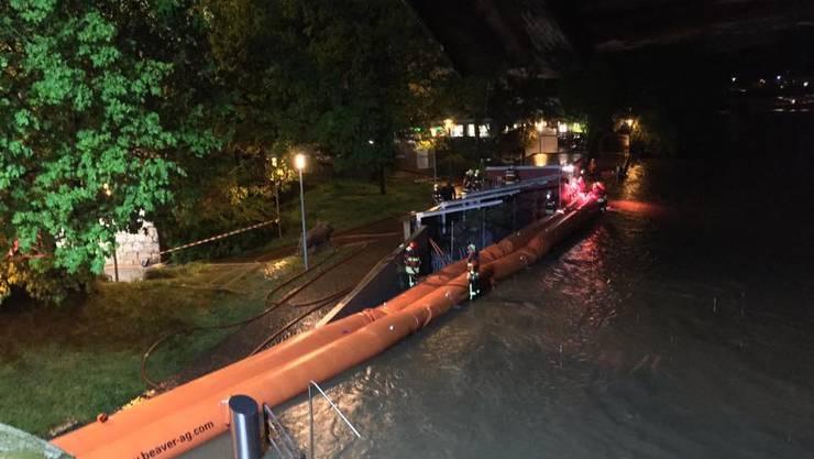 Hochwasser-Alarm in Olten: Die Feuerwehr steht im Einsatz.