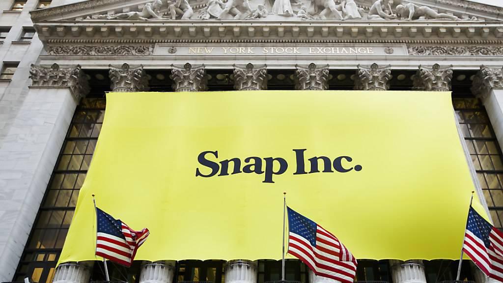 Der Mutterkonzern der Foto-App Snapchat, Snap, hat am Dienstag mit Informationen die Börsianer enttäuscht. (Archivbild)