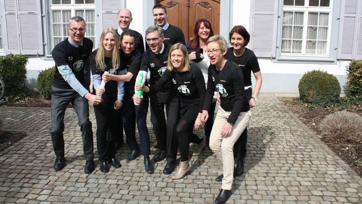Das Landrats-Team für die SOLA Basel (von links): Thomas Eugster, Jasmin Mischler, Toni Lauber, Fania Heilscher, Franz Meyer, Markus Graf, Florence Brenzikofer, Caroline Mall, Erika Eichenberger und Saskia Schenker.