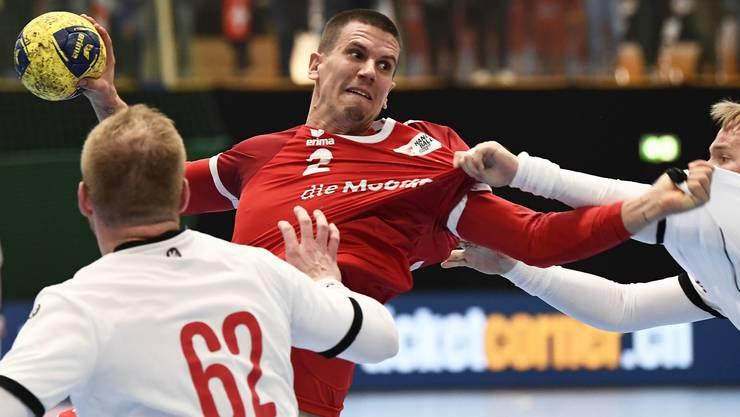 Superstar Andy Schmid verdiente sich gute Noten beim ersten Test gegen Tschechien.